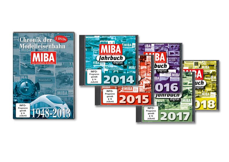 MIBA Chronik der Modelleisenbahn 65 Jahre MIBA 1948-2013 5 DVDs